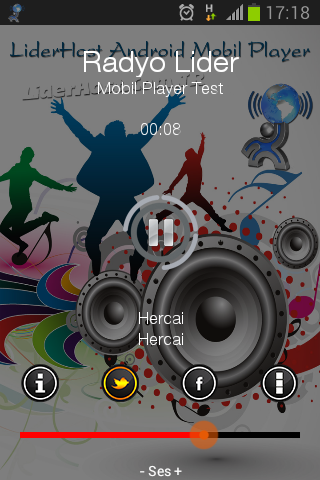 android radyo player, mobil radyo player